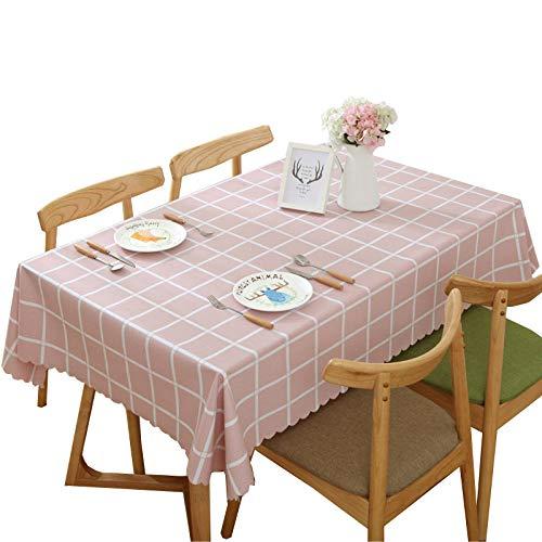 Dthlay PVC tafelkleden voor tuintafels waterdicht tafelkleed salontafel gemakkelijk te reinigen tafelkleed roze