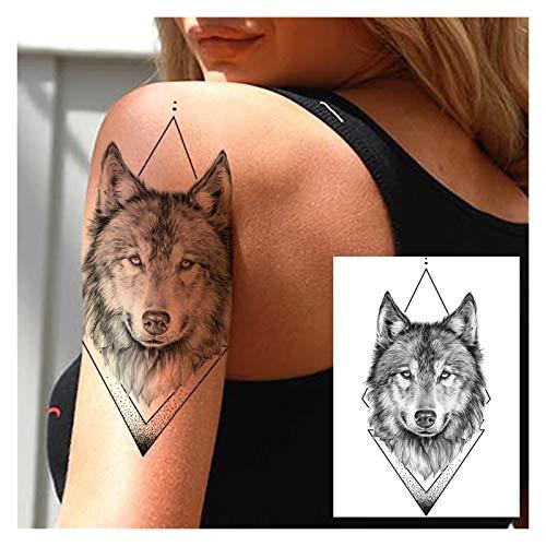 Wasserdichte temporäre Tattoos 5 stücke 3d stern schwarz planet baum temporäre tattoo aufkleber für kinder frauen männer wolf löwen baum tattoos wordeam body arm für Frauen, Männer ( Color : HLZ184 )