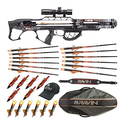 Ravin Crossbows R29 430 FPS Crossbow (Predator Camo) Essentials Bundle (9 Items)