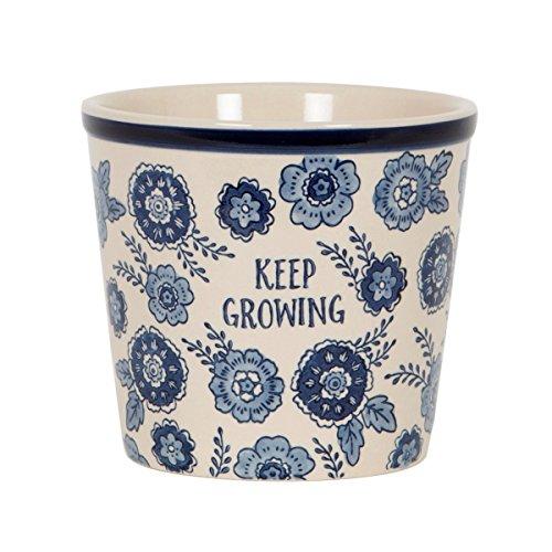 Sass & Belle Floral bleu Développez Pot de fleurs