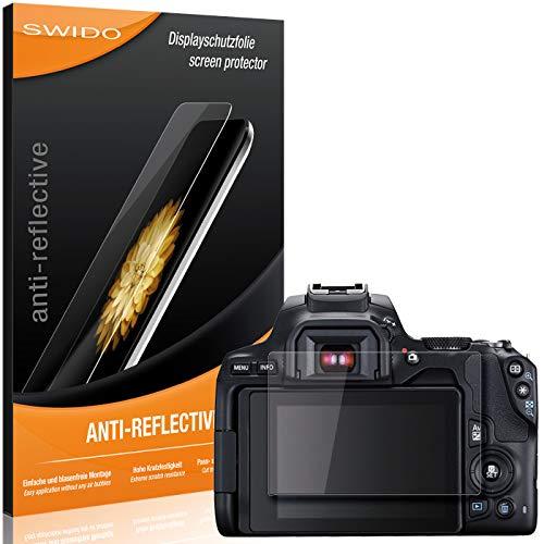 SWIDO Protector de Pantalla para Canon EOS 250D [Anti-Reflex], [2 Piezas] Antirreflectante, Mate, Anti-Arañazos, Anti-Huella Dactilar - Película Protectora