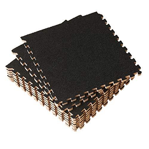 UMI. Essentials -Alfombras de Espuma entrelazadas de 30 X 30 cm (Negro...