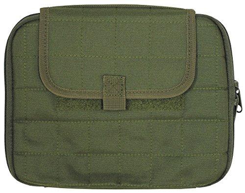 MFH Gepolsterte Tablet Tasche Molle PC Tasche Computertasche 25 x 20 cm Schultasche Outdoor Tasche Camping viele Farben (Oliv)