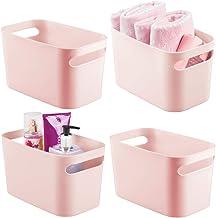 mDesign Deep Plastic Bathroom Vanity Storage Bin with Handles - Organizer for Hand Soap, Body Wash, Shampoo, Lotion, Condi...
