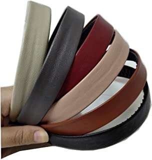 Bzybel Women Wide Solid Leather Headbands Hair Bands Hair Comb Bands Hair Accessories for Lady Girls (Color 1)