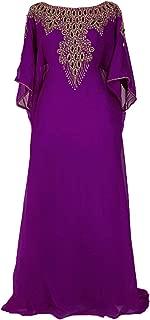 Covered Bliss Aceil Kaftan for Women -3/4 Sleeve Maxi Dress, Elegent Luxury Party Wear