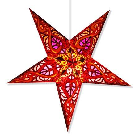 Celtic Red Paper Star Lamp, Star Lantern Star Light … (Celtic Red Star Lantern)