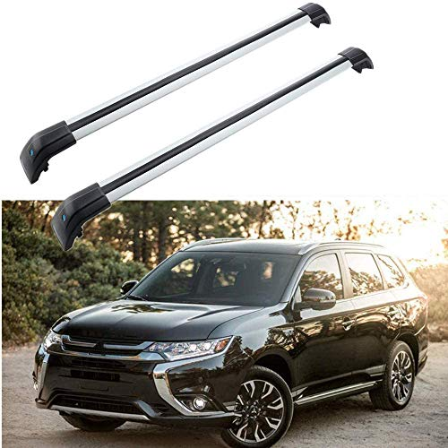MotorFansClub Roof Rack Crossbars Fit for Compatible with Mitsubishi Outlander 2013 2016 2017 2018 Cross Bars Cargo Luggage Rack (Doesn't Fit for Sport Version!!!)