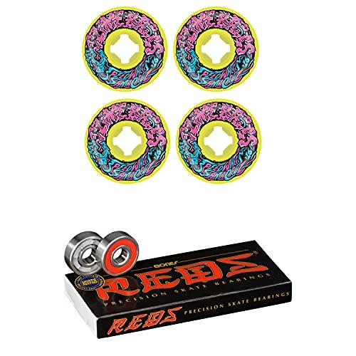 Slime Balls Skateboard Wheels 54mm Vomit Mini 97A Yellow Bones Reds Bearings