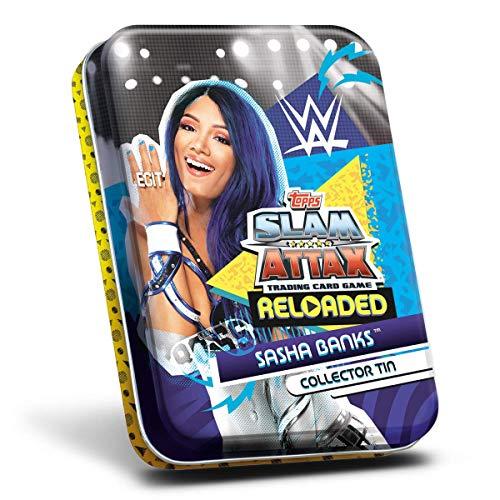 Topps WWE Slam Attax 2020 - Lata de coleccionistas Sahsa Banks!