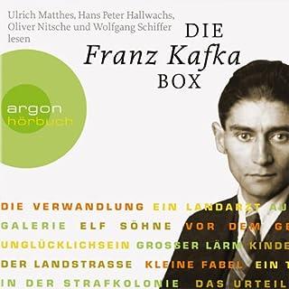 Die Franz Kafka Box                   Autor:                                                                                                                                 Franz Kafka                               Sprecher:                                                                                                                                 Hans Peter Hallwachs,                                                                                        Wolfgang Schiffer,                                                                                        Oliver Nitsche                      Spieldauer: 5 Std. und 42 Min.     53 Bewertungen     Gesamt 4,3