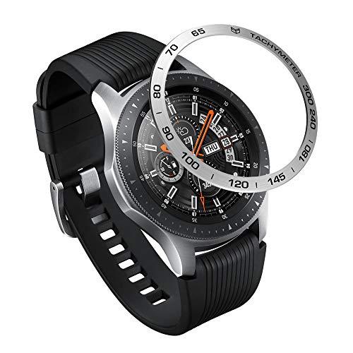 Syxinn Lünette Ring Kompatibel für Samsung Galaxy Watch 46mm/Gear S3 Frontier/S3 Classic Edelstahl Lünette Styling Haftende Abdeckung Anti Scratch Collision Protection Bezel Ring für Galaxy Watch
