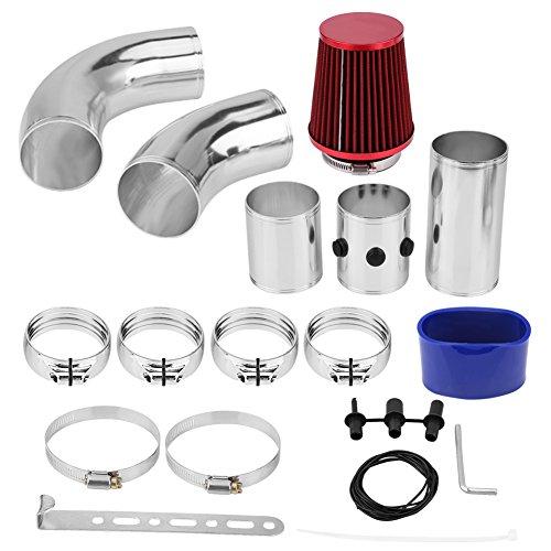 Filtro Universal de Admisión de Aire Frío del Coche, 76 mm / 3 Pulgadas Sistema de Filtro de Admisión de Inyección de Aire Frío de Aluminio Manguera / Tubería / Kit de Tubo