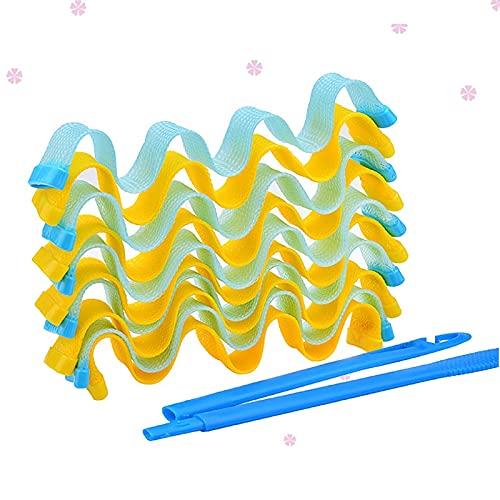 Plancha para rizar Magic Hair Curler portátil 120 unids Peinado Roller Sticks Duradera Belleza Maquillaje Curling Pelo Estilo Herramientas Nuevos rodillos Fácil de usar (Color : 45 CM)