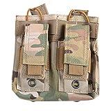 DAUERHAFT Bolsa de Mochila Impermeable Military Pack, para Correr, Montar(Camouflage)