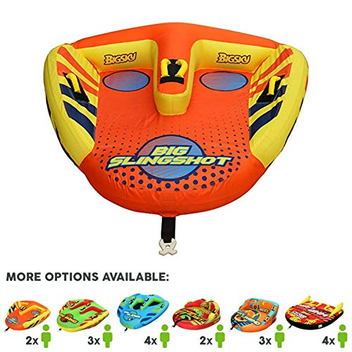 Save %33 Now! Big Sky Heat Wave Towable, Inflatable Water Tube for 2 -Roomy, Durable Boating Tubes for Lake, Beach, River, Snow -Watersports Towables -Quick Inflation and Deflation -Two Person Boat Toys and Floats