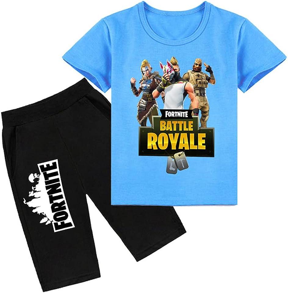Kurzärmelige Pyjamas für Jungen, kurzärmelige Kinder-T-Shirts, Sommeroberteile und Hosen Zweiteilige Sweatshirts