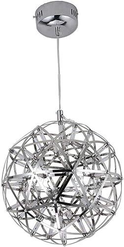 HY Lustre en Verre Argenté Moderne De Plafonnier De Feu d'artifice De La Lampe pendentife en Métal Créative Moderne,argent-A-20cm(LED12)