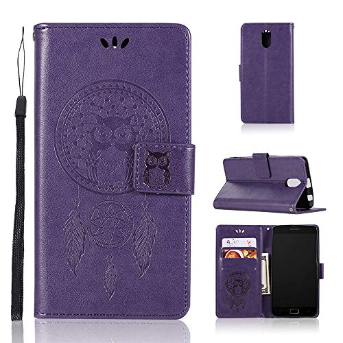 JARNING Kompatibel mit Lenovo Vibe P1m P1ma40 Leder Schutzhülle PU Leder Wallet Flip Hülle Tasche Lederhülle mit Kartenfach für Lenovo Vibe P1m P1ma40 (Lila)