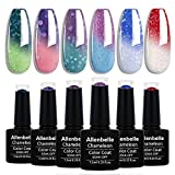 Allenbelle Color Changing Nail Polish Set Color Changing Gel Polish Set Mood Soak Off Uv Led Color Changing Gel Nail Polish (003)
