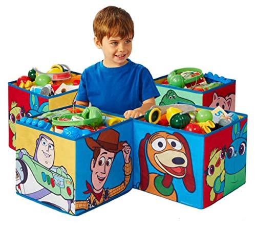 PEGANE Lot de 4 Cubes de Rangement décoratifs Toy Story Disney 28 cm