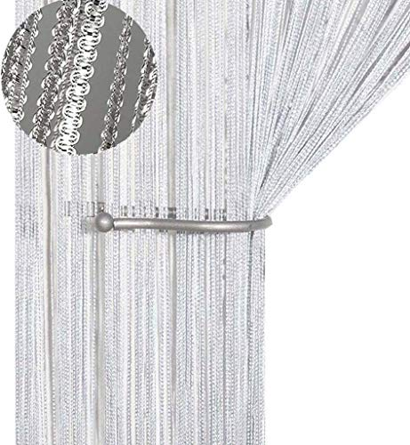 AIZESI String Door Curtain Fly Insect Bug Screen String For Doorways Divider or Window Curtain Panel 39'x78.5'(White)
