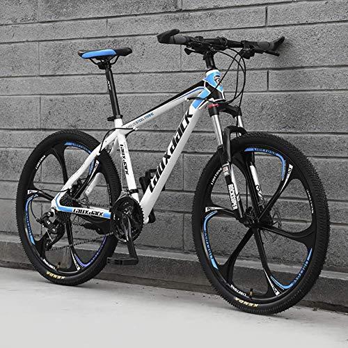 DJP Bicicleta de Montaña, Muebles Frenos de Doble Disco Bicicleta de Montaña, Bicicletas de Montaña 26 Pulgadas Acero Carbo Bicicleta de Montaña Acero con Alto Contenido de Carbono Bicicletas Plegabl