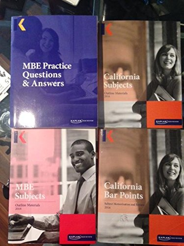2016 California Bar Review Package