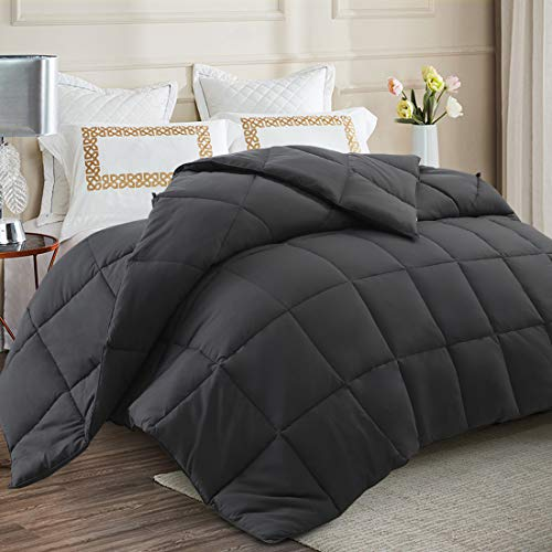 """Soft Cooling Queen Size Comforter All Seasons 2100 Series 350 GSM Lightweight Quilted Down Alternative Breathable Hotel Comforters Duvet with Corner Tabs Plush 3D Filling Machine Washable (88""""x88"""")"""