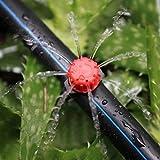 Belly Flop Cabezal Universal Ajustable Jardín Micro Gotas 1/4 '' Manguera de irrigación Tropfsprinkler irrigación 50 Partes/Set