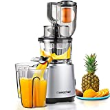 Juicer Machines AMZCHEF Slow Juicer Slow Masticating Juicer Cold Press Juicer Vegetable&Fruit Extractor Reverse Function Quiet 76mm Feed Chute|Juice Jug&Brush BPA-Free.