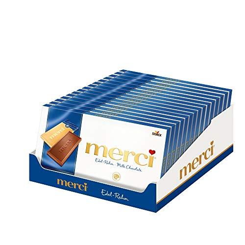 Merci Tafel Edel- Rahm, 15er Pack (15 x 100 g)