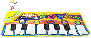 LGRQWER Teclado De Piano Musical Dance Floor Mat 70 * 30 Manta De Música Educativa Multifuncional para Niños Animal Song Toy para Niños Pequeños Niños Niños
