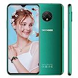 DOOGEE X95 PRO Smartphone, Android 10 Handy Ohne Vertrag, 4GB +32GB, 6,52 Zoll HD+ Display, 4350mAh Akku, 3MP+2MP+2MP Kamera, 4G Dual SIM, Type-C, GPS, Face ID, Grün