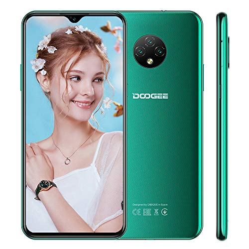 Cellulari Offerta 4G DOOGEE X95 PRO Android 10.0 Smartphone, 4GB+32GB, 6,52 Pollici, Batteria 4350mAh,13MP+2MP+2MP+5MP Tripla Fotocamera, Face ID, Verde