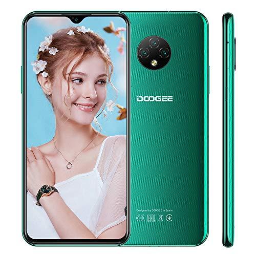 Smartphone Libre 4G DOOGEE X95 Pro Android 10 Teléfono Móvil, 4GB +32GB, Pantalla 6,52 Pulgadas, 4350mAh Batería, Triple Cámara 13MP+5MP,Doble SIM, Face ID, Verde