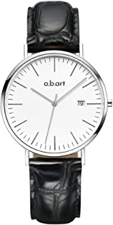 abart Women Wrist Watches FB36 Classical Black Dial Leather Strap Lady Watches