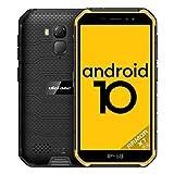 Ulefone Armor X7 Pro (2020) 4G Telephone Portable Incassable 4 Go + 32 Go Quad-Core, 4000 mAh, Android 10, IP68 / IP69K étanche Antichoc, Double SIM 4G LTE Smartphone GPS OTG NFC Face ID(Jaune)