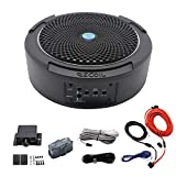 Recoil SL1708 400 Watt 8' Under-Seat Slim Amplified Car Subwoofer with Installation Wiring Kits