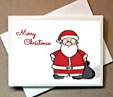 Personalized Christmas Cards -Santa Claus (Personalized) 30 Cards with Blank Matching Envelopes