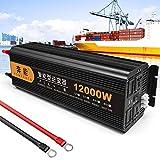 NLJY Convertidor De Voltaje Sinusoidal Puro 3200, Convertidor De Voltaje De 12 V a 220 V, 1 USB Y Control Remoto, Adecuado para RV, Automóvil,5000W-24V
