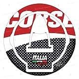 Protector adhesivo resinado tapón depósito compatible con Ducati Monster 696 796 1100 Streetfighter 1098 848 Diavel 1198 y Aprilia