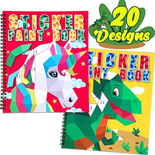 8-12세 어린이용 그림책 - 유니콘 공룡 라마와 더 많은 동물 디자인 선물 파티 20점 제작