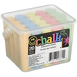 Chalk Sidewalk Chalk 20 Count- 5 colors 5 Will Not fit in a Standard Jumbo Chalk Holder