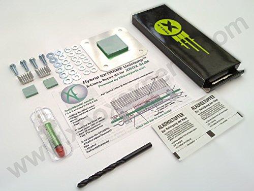 [Werkzeug&Extras] Xbox 360 S/Slim/E Extreme Hybrid Uniclamp™ RROD X-Clamp Reparatur Kit/Set mit Werkzeug & Extras(Nicht FÜR Große Xbox 360, Rod, Ring of Death)