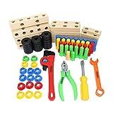 JICHUIO DDG-7 Kinderschraubmutter Kombination Demontage Werkzeug Plattform Multifunktionale Holzbausteine Intellektuelle Entwicklung Spielzeug