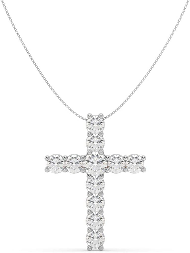 Jewelili Made for You All items free shipping 14K White Pe Diamond Lab-Grown cttw Superior Gold 1