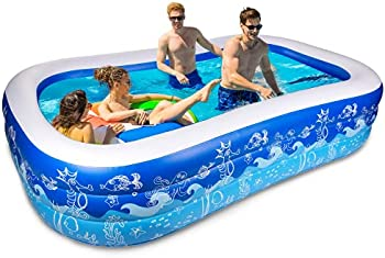 Joyjoz Blow Up 93 x 54 x 22 Inches Inflatable Pool