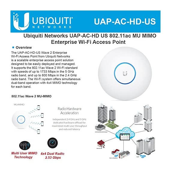 Ubiquiti UniFi HD 802.11ac Wave 2 Enterprise Wi-Fi Access Point (UAP-AC-HD-US) 2 Product 1: Ubiquiti Networks networks Unifi AP, AC mesh Product 2: The US-8-60W is an 8-port gigabit switch with four 802.3af PoE ports. Its auto-sensing PoE ports deliver up to 15.4W of power per port. Product 2: Non-Blocking Throughput The new 8-port models feature Gigabit Ethernet ports in a compact form factor. For its total, non-blocking throughput, each UniFi Switch supports up to 8 Gbps.