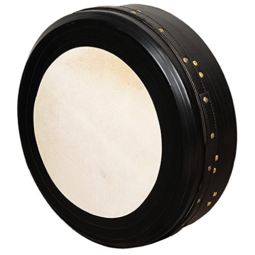 muzikkon Irish Bodhran, 45,7 x 10,2 cm Zentrum Bodhran schwarz InTune Single Bar Tief